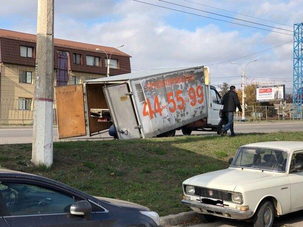 В Смиферополе Газель развалилась прямо на ходу