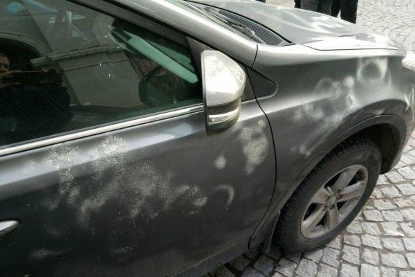 В Харькове машину консула России испортили неизвестные