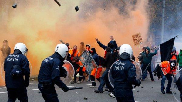 Брюссель всколыхнули массовые беспорядки