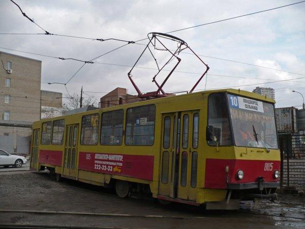 В Ростове в аварию попали трамвай и автобус
