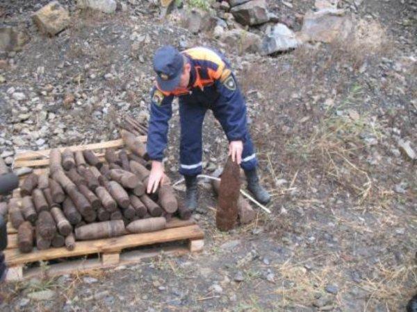 В двух городах Ростовской области обнаружены боеприпасы, датированные периодом войны