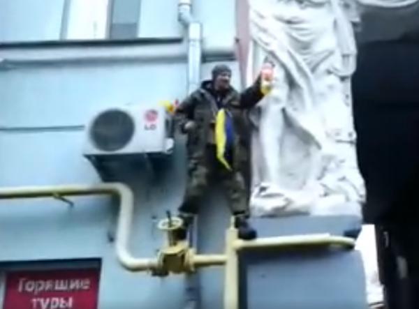В Киеве мужчина попытался сжечь себя в поддержку Саакашвили