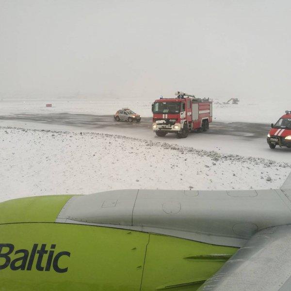 В Шереметьево самолет выкатился за взлетно-посадочную полосу