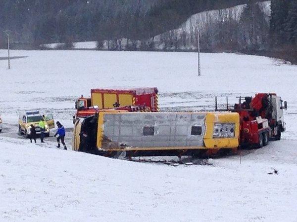 Во Франции пассажиры попавшего в ДТП автобуса сообщили о поднятом шлагбауме