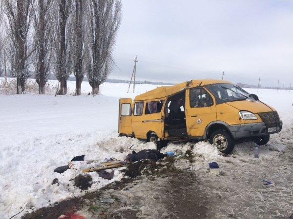 В ДТП с маршруткой на Кубани погибли женщина и ребенок