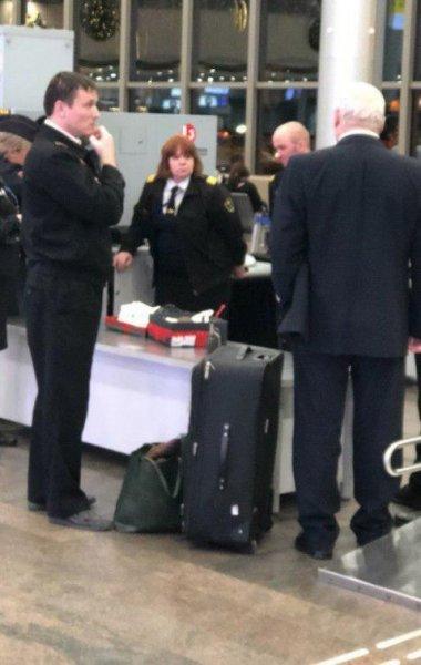 В московском аэропорту задержали британку с муляжом гранаты
