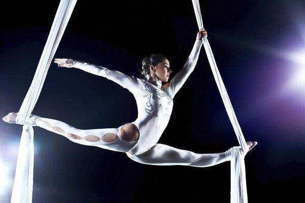 Падение воздушной гимнастки во время гастролей цирка в Гомеле сняли на видео