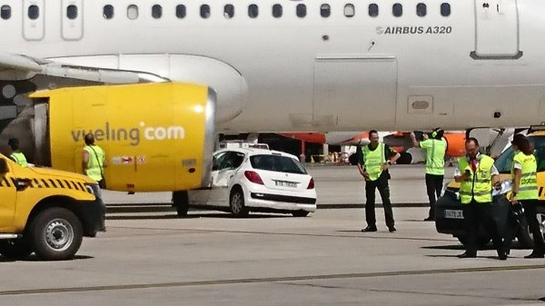 Во Внуково самолёт чуть не задавил работника