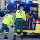 В Стокгольме фургон протаранил полицейскую машину