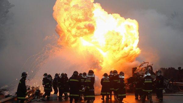 В Китае прогремел взрыв на химзаводе