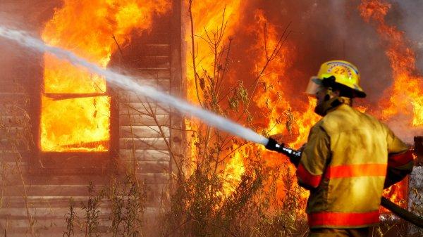 В Тамбовской области дотла выгорел дом