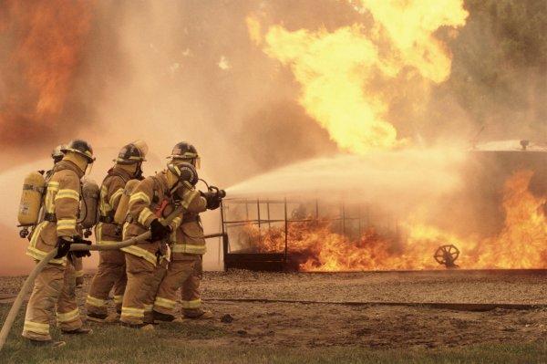 В Мытищах произошёл пожар в жилом доме