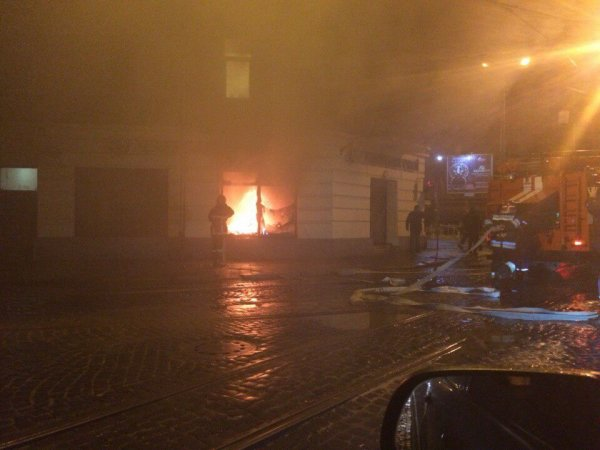 14 февраля во Львове пытались поджечь помещение «Сбербанка»