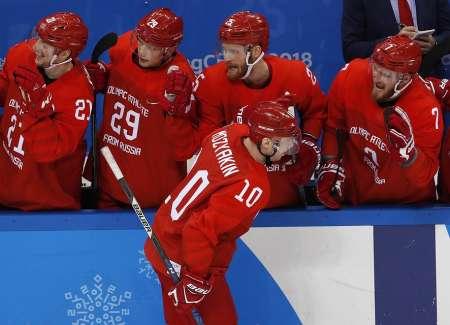 Российские хоккеисты вышли в полуфинал Олимпиады, разгромив Норвегию