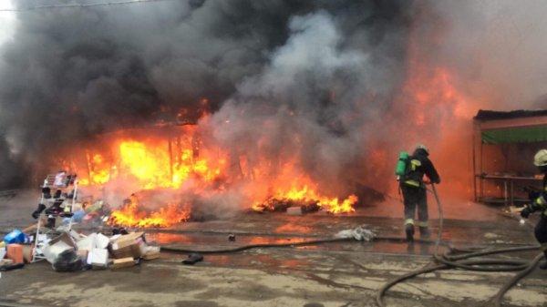 В Олимпийском парке в Сочи сгорели два ларька