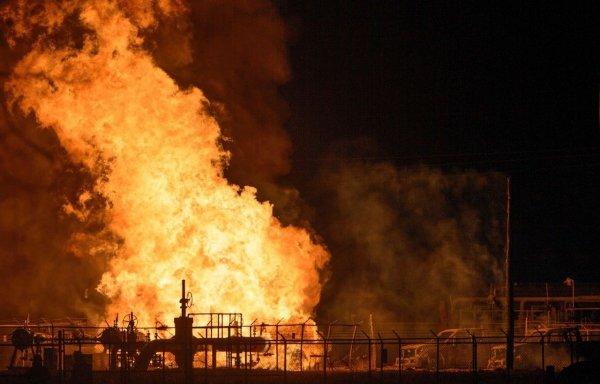 На газопроводе в Воронежской области случился прорыв с возгоранием