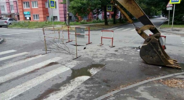 Вблизи Краснохолмской набережной случился провал грунта