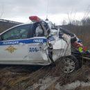 На скоростной трассе М-4 «Дон» грузовик врезался в автомобиль ДПС