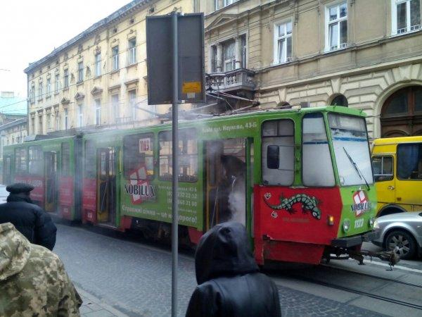 На востоке Москвы в трамвае произошел пожар