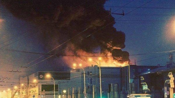 В Сеть выложили вырезанный фрагмент видеозаписи с началом пожара в «Зимней вишне»
