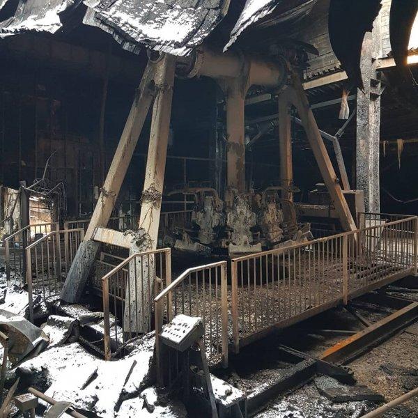 Востриков показал последствия пожара в кинозале «Зимней вишни»