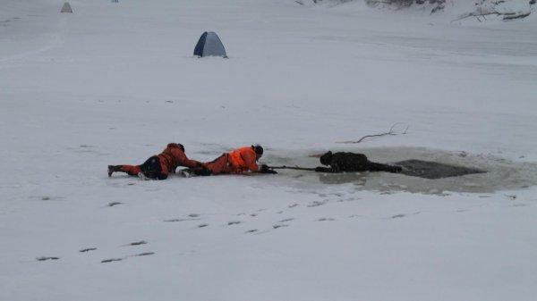 В Москве рыбак провалился под лед на реке