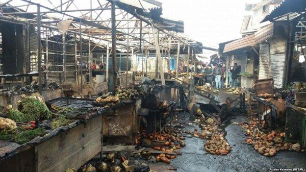 Площадь пожара на рынке Нальчика достигла 2000 «квадратов»