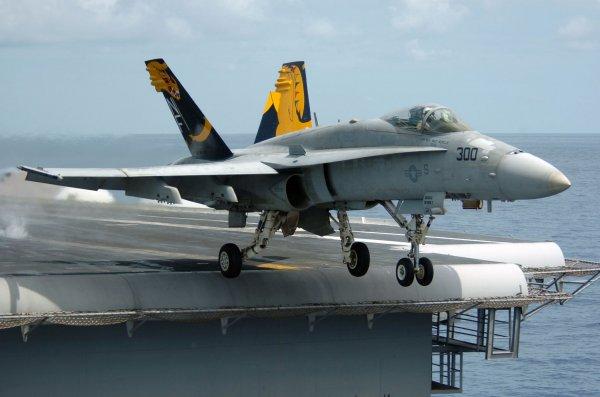 Птичку жалко: В США у военного самолета загорелся двигатель