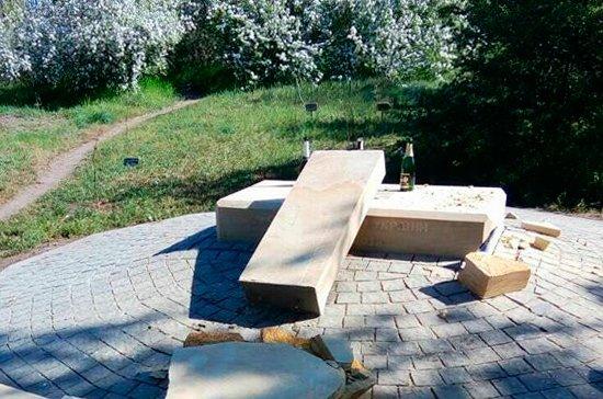 На востоке Украины разбили памятник, посвященный воинам АТО