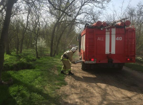 В Крыму спасатели локализовали пожар на мусорном полигоне близ Симферополя