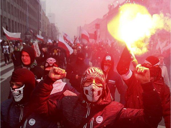 Польская полиция применила силу против участников шествия националистов в Катовице
