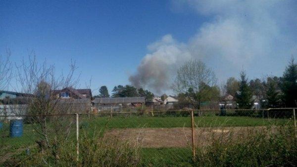 Площадь пожара в военной части в Удмуртии резко увеличилась до 20 га