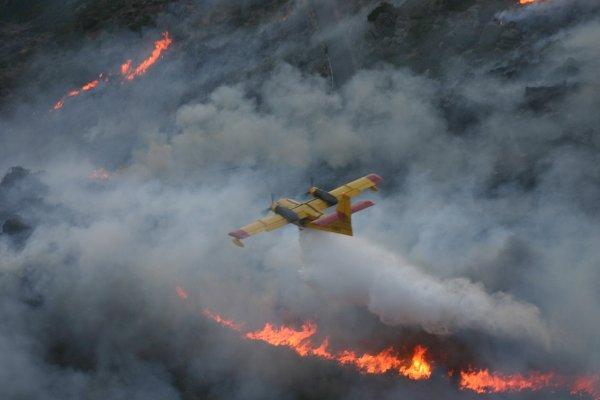 В Удмуртии авиация МЧС возобновила тушение пожара в Пугачево