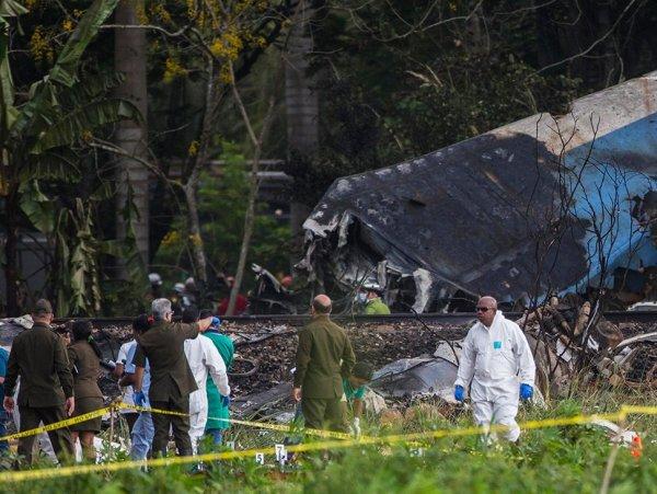 На месте падения самолета на Кубе нашли