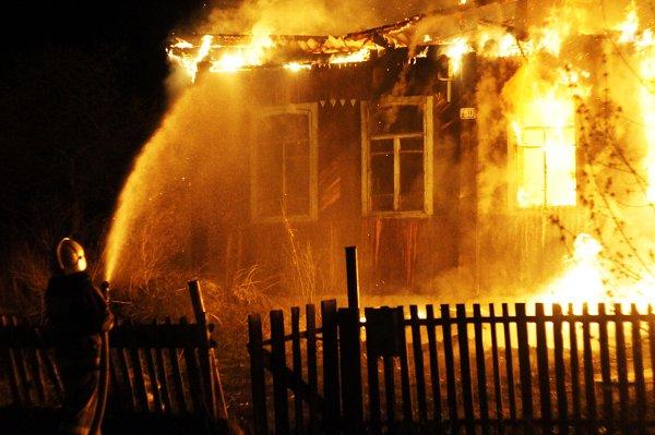 В Нижегородской области сгорели мать и сын в ночном пожаре