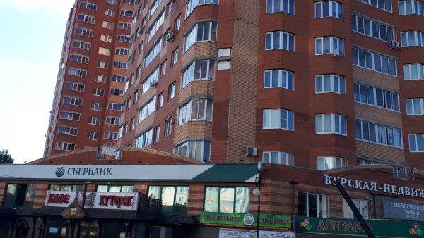 В Курске рухнул кусок стены многоэтажки