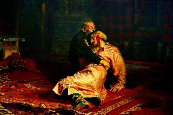 Мужчина повредил картину «Иван Грозный и его сын Иван…» в Третьяковке