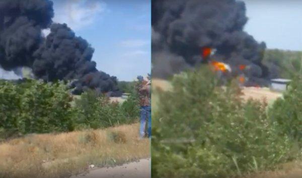 В Ростове-на-Дону загорелся нефтепровод