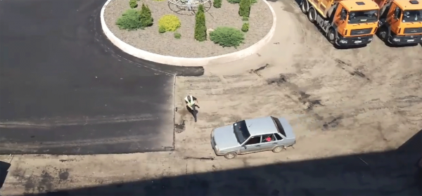 Цирк и погоня: Автоледи вскружила голову украинским полицейским