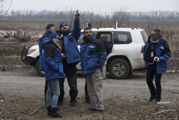 Взрыв прогремел рядом с патрулём ОБСЕ под Донецком