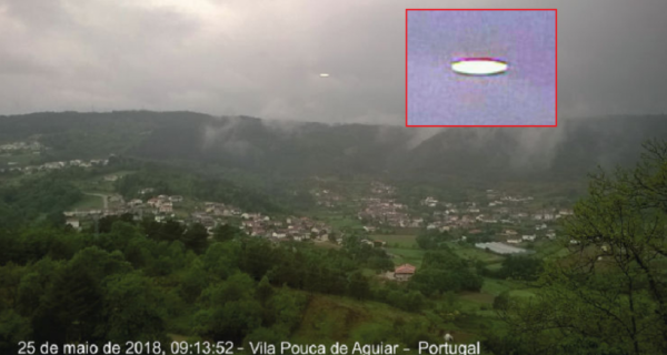В небе Португалии был замечен НЛО