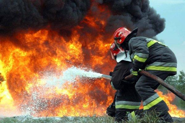 Сильный пожар в торговом центре под Петербургом охватил 400 кв. м.