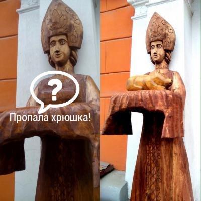 В центре Рязани похитили деревянного поросенка