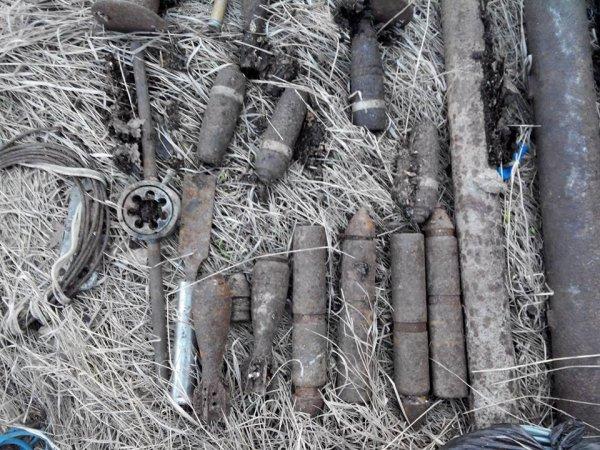 В Истре обнаружили артиллерийские снаряды времен ВМВ