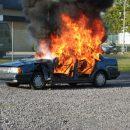 Lada Kalina загорелась прямо на ходу в Новочеркасске