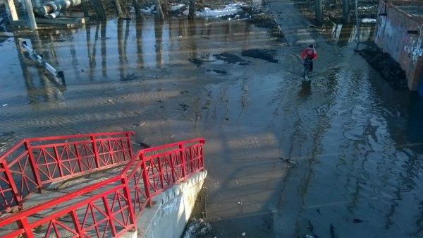 В Ставрополье странный человек купался в луже