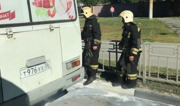 Утром в Воронеже загорелась маршрутка
