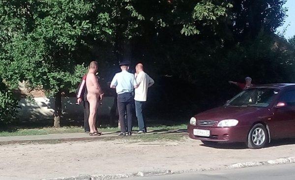 В Воронежской области гулял полностью голый дебошир