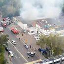 В Сети появилось видео с места взрыва в автосервисе на северо-западе Москвы