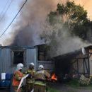 В Петербурге горит здание «Ленфильма»